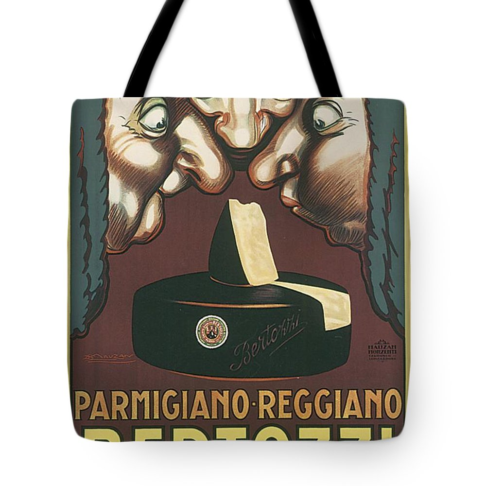Bertozzi Tote Bag featuring the drawing Bertozzi Poster by Priscilla Wolfe