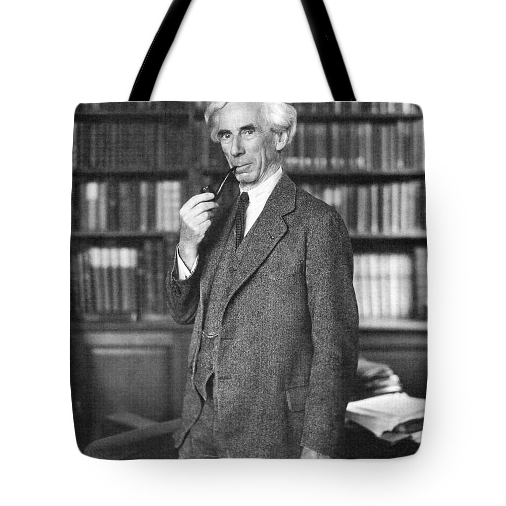 1935 Tote Bag featuring the photograph Bertrand Russell by Granger