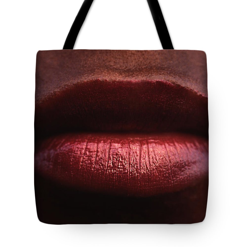 Lips Tote Bag featuring the photograph Besame Mucho by Michael Mogensen