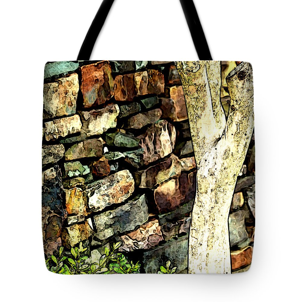 Wall Tote Bag featuring the photograph Beside The Wall by Karin Everhart