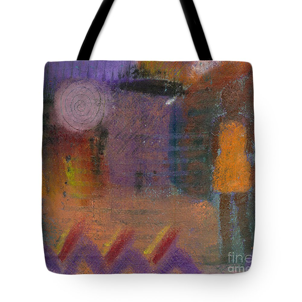 Girlfriends Tote Bag featuring the painting Best Friends by Angela L Walker
