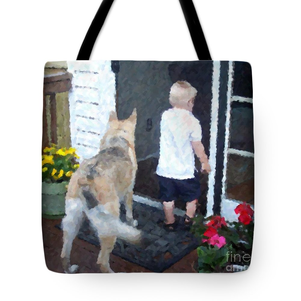 Dogs Tote Bag featuring the photograph Best Friends by Debbi Granruth