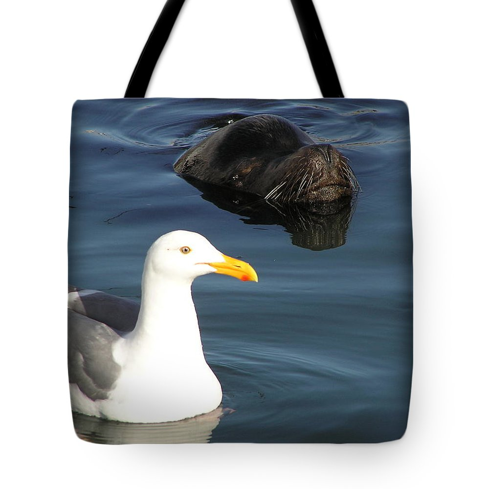Seagull Tote Bag featuring the photograph Best Friends by Louise Magno
