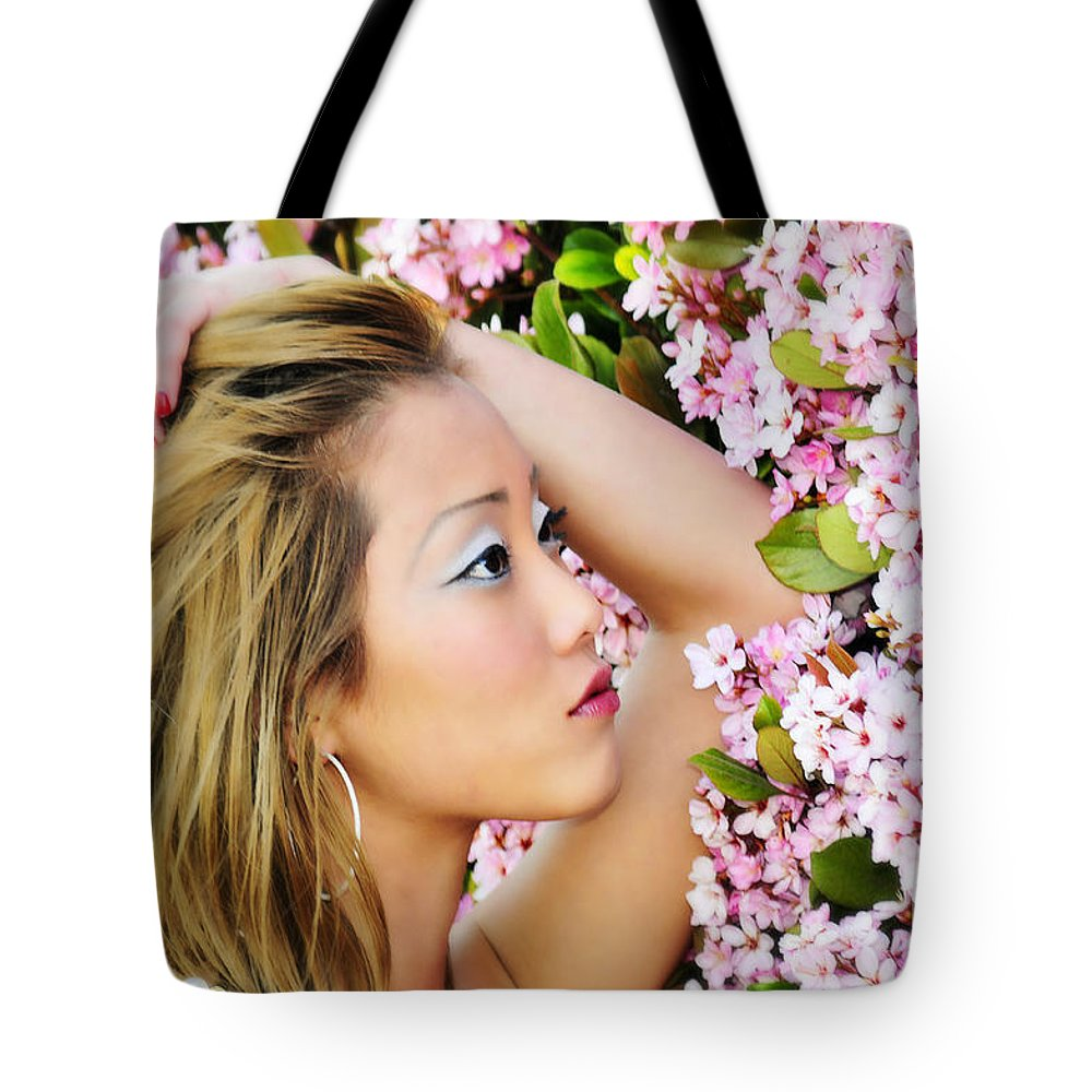 Glamour Photographs Tote Bag featuring the photograph Resting Bloom by Robert WK Clark