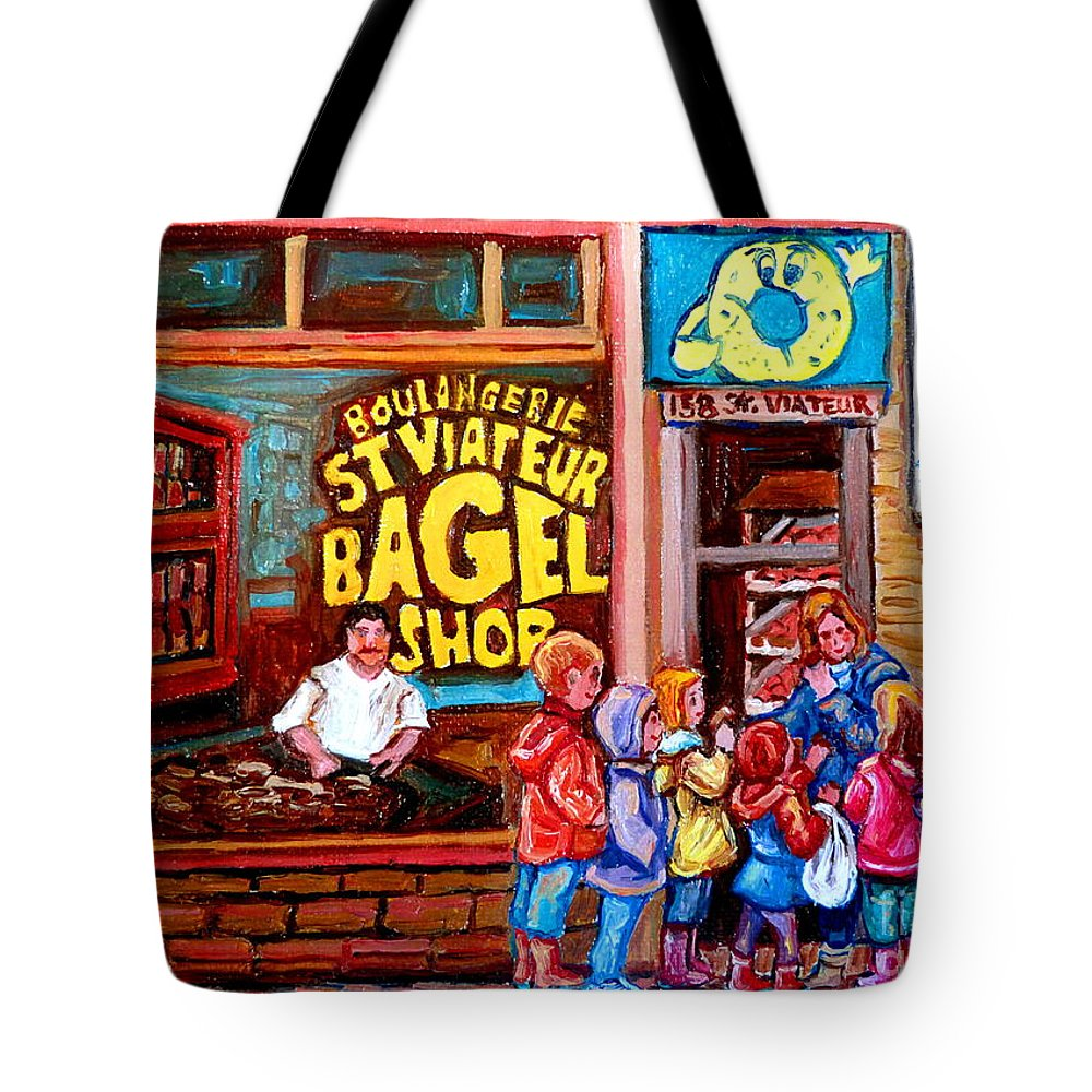Children Tote Bag featuring the painting Bet You Cant Eat Just One by Carole Spandau