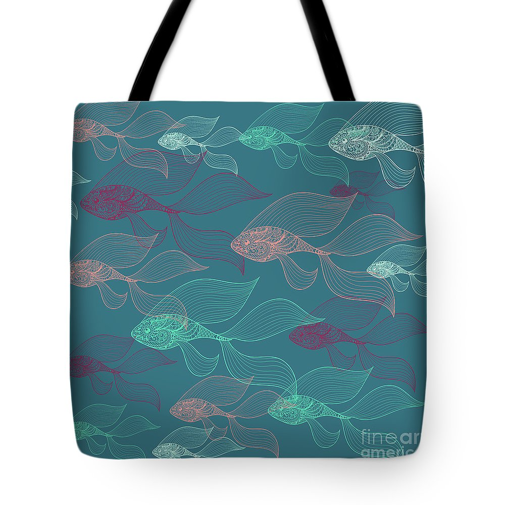 Dolphins Tote Bag featuring the photograph Beta Fish by Mark Ashkenazi