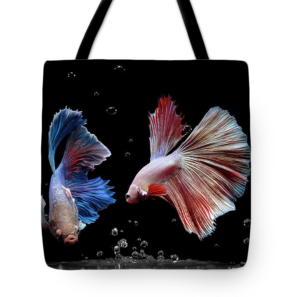 Animal Tote Bag featuring the photograph Betta1265 by Bang Yos