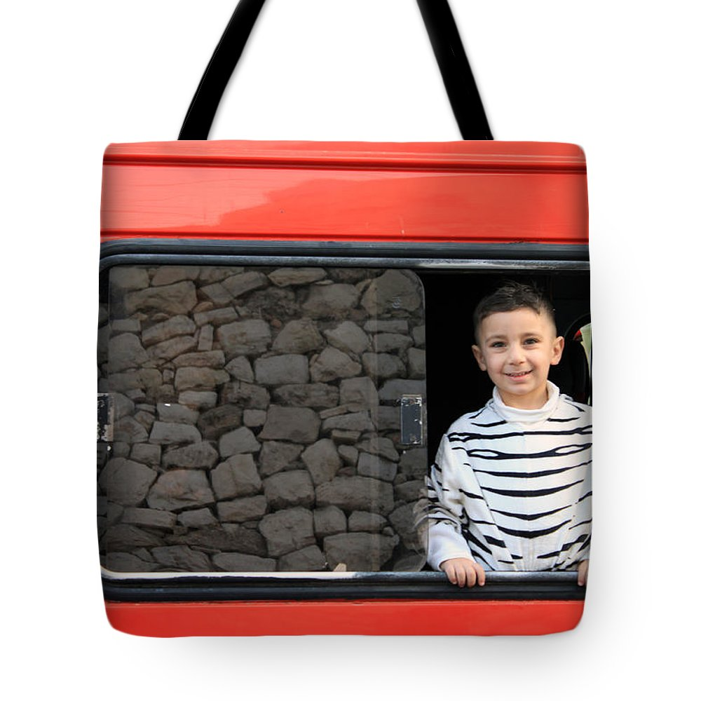 Bethlehem Tote Bag featuring the photograph Bethlehem - A Child From Bethlehem by Munir Alawi