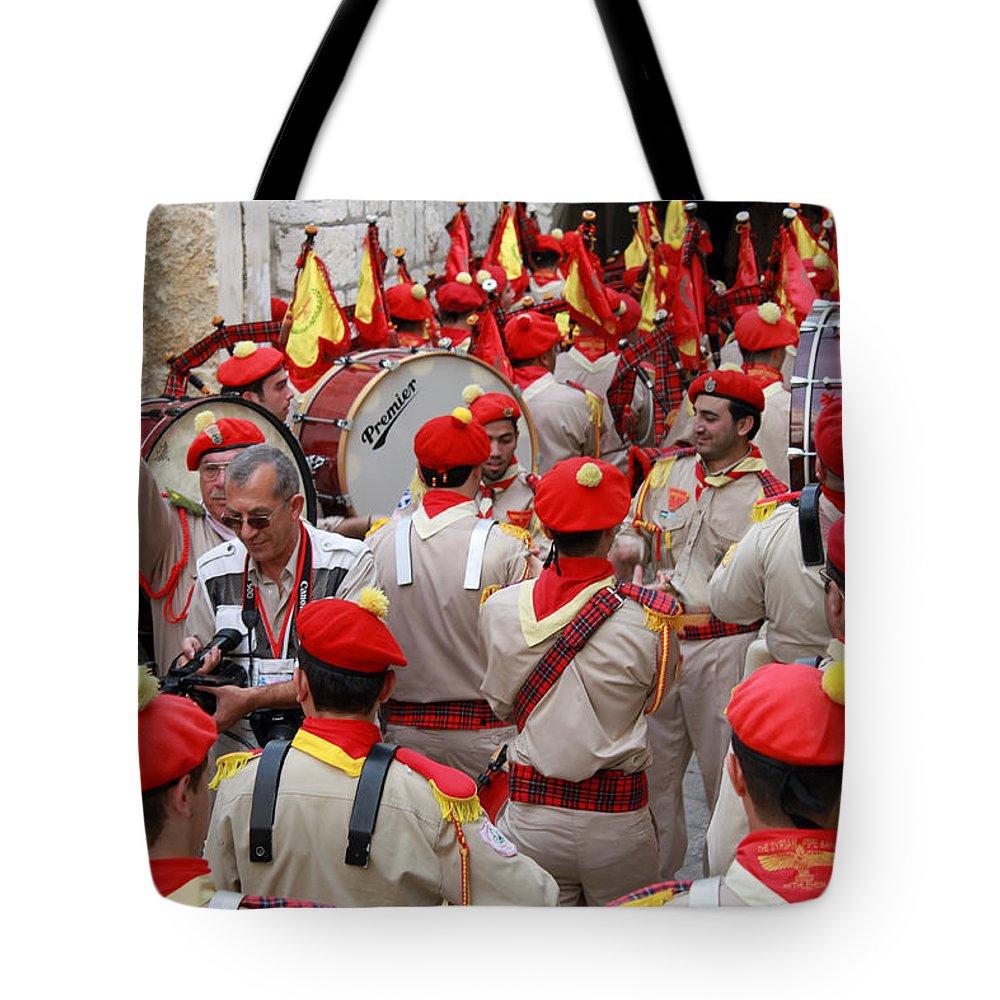 Christmas Tote Bag featuring the photograph Bethlehem - Christmas Festival 2009 by Munir Alawi