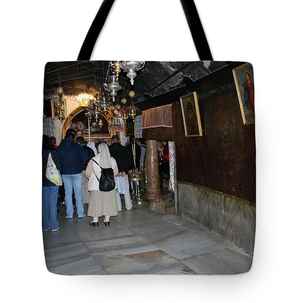 Nativity Tote Bag featuring the photograph Bethlehem - Grotto Of Nativity 2009 by Munir Alawi