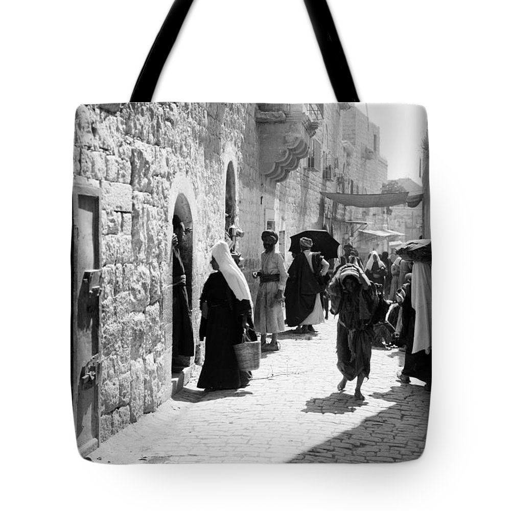 Bethlehem Tote Bag featuring the photograph Bethlehem - Hard Working Woman by Munir Alawi