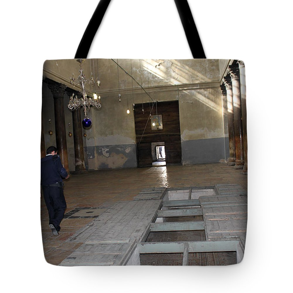 Bethlehem Tote Bag featuring the photograph Bethlehem - In The Preparation For Christmas Celebration 2009 by Munir Alawi