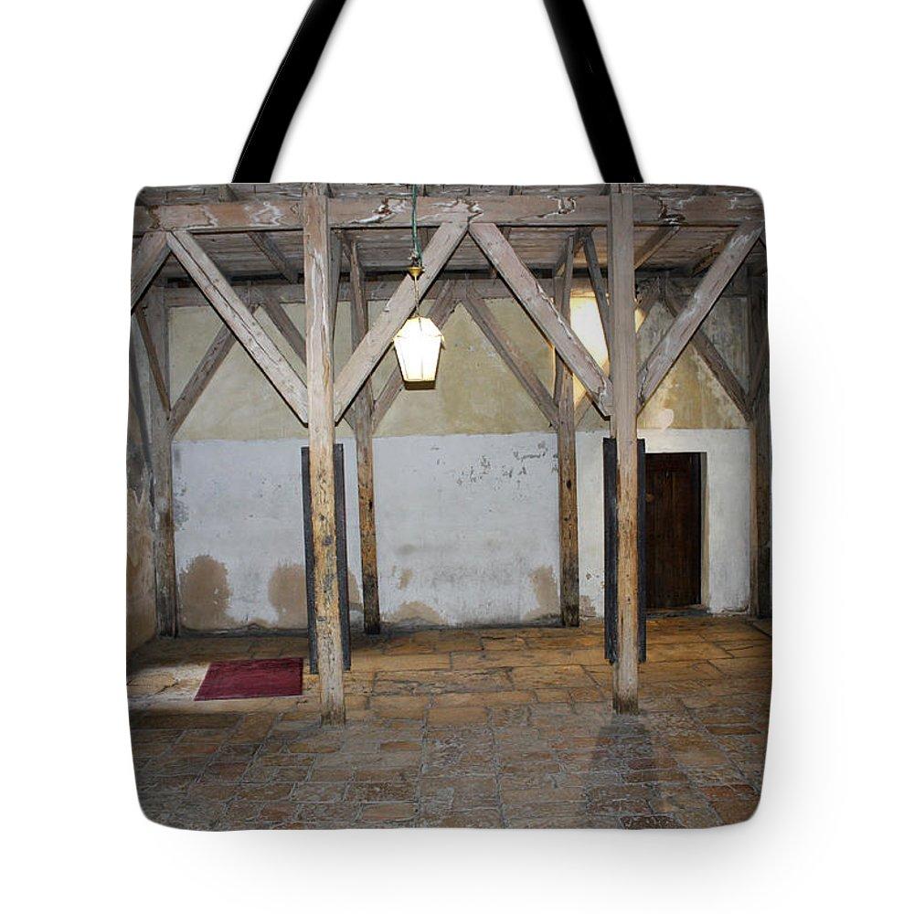 Bethlehem Tote Bag featuring the photograph Bethlehem - Main Entrance To Nativity Church by Munir Alawi