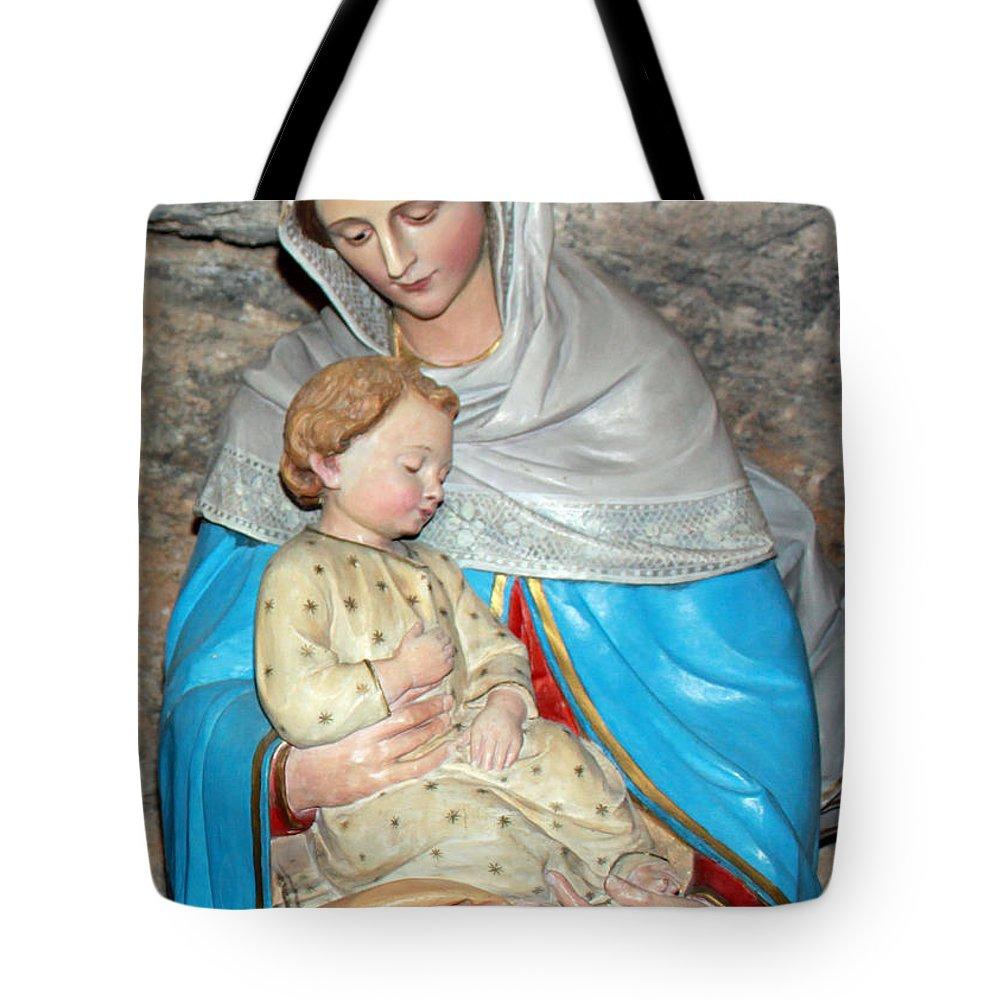 Milk Tote Bag featuring the photograph Bethlehem - Milk Grotto Church by Munir Alawi