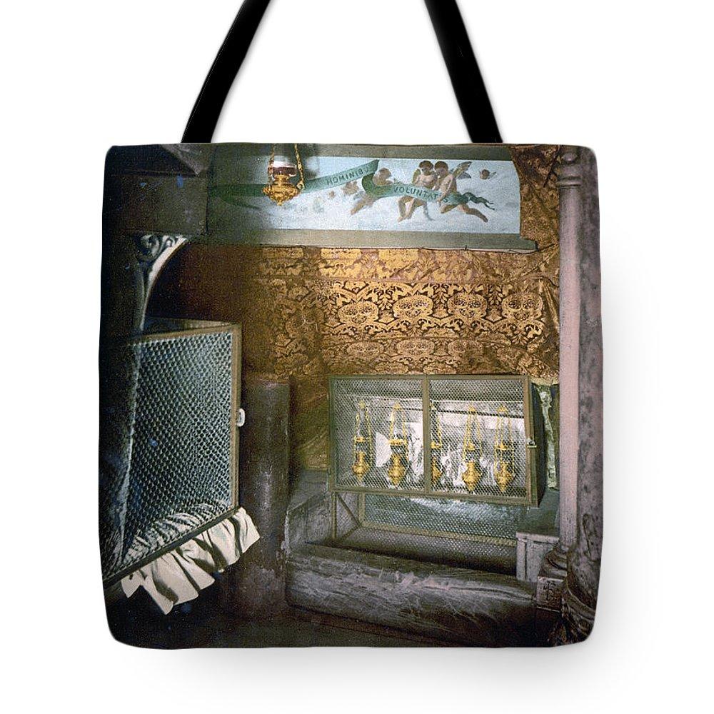Church Tote Bag featuring the photograph Bethlehem - Nativity Church 1890 by Munir Alawi