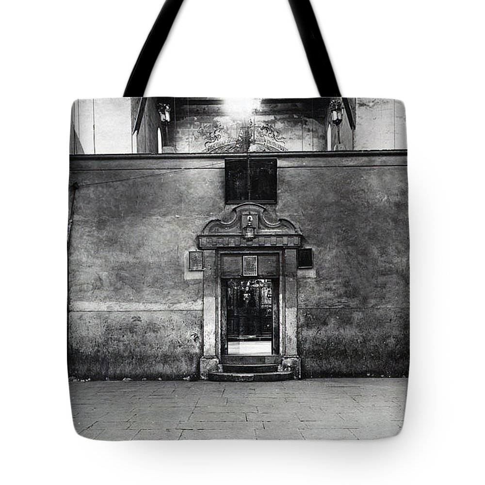 Tote Bag featuring the photograph Bethlehem - Nativity Church Before Removal Of The Partition Wall 1918 by Munir Alawi