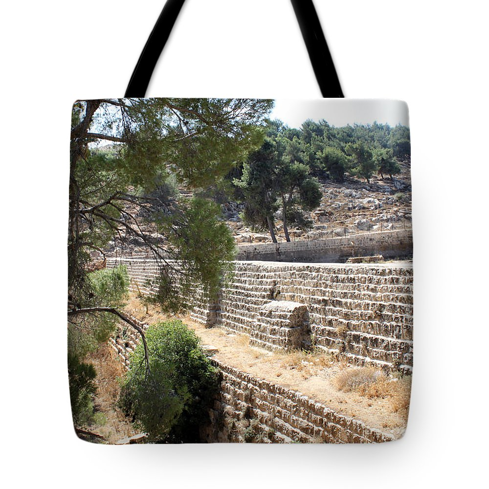Pool Tote Bag featuring the photograph Bethlehem - Solomon's Pools by Munir Alawi
