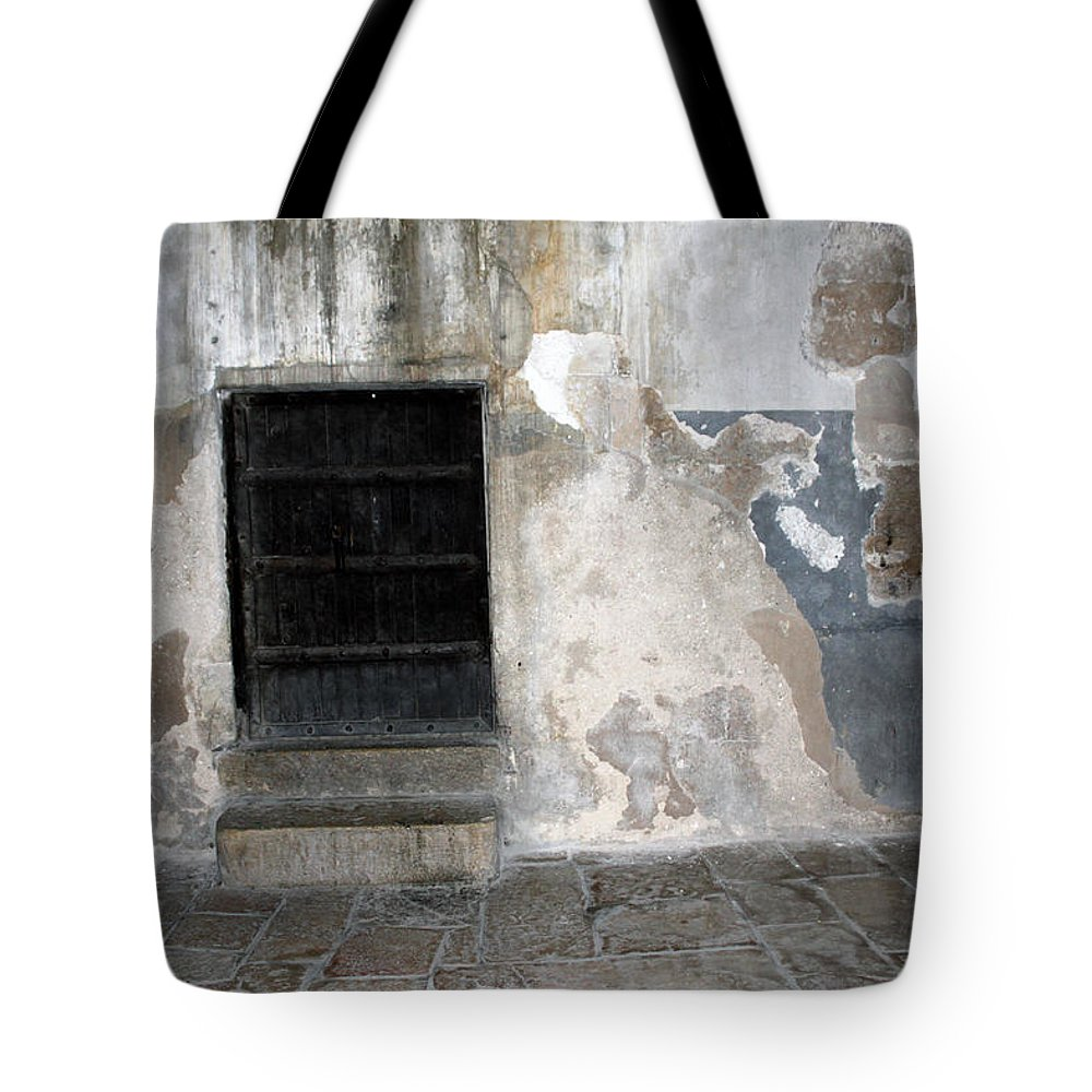 Bethlehem Tote Bag featuring the photograph Bethlehem - The Black Door by Munir Alawi