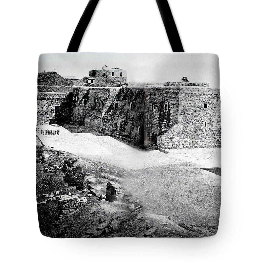 Bethlehem Tote Bag featuring the photograph Bethlehem In 1875 by Munir Alawi