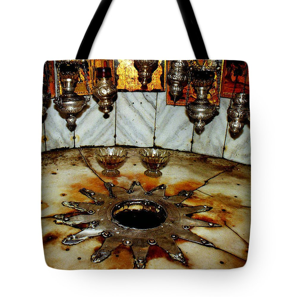 Nativity Tote Bag featuring the photograph Bethlehem Star by Munir Alawi