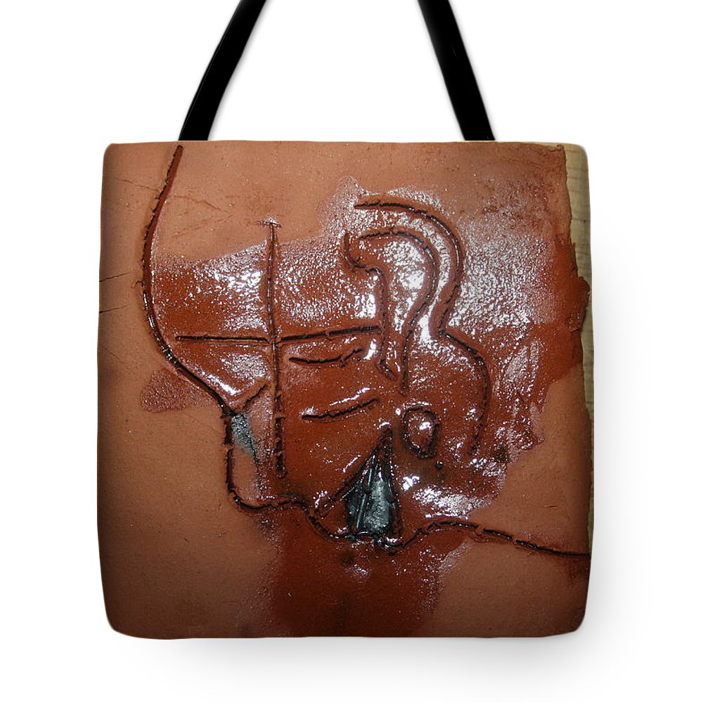 Jesus Tote Bag featuring the ceramic art Betrayal - Tile by Gloria Ssali