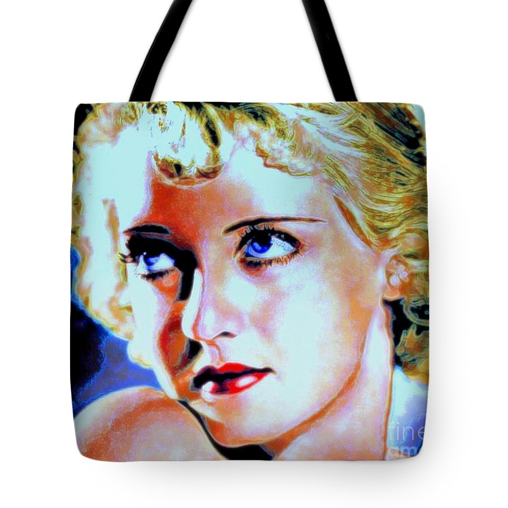 Bette Tote Bag featuring the painting Bette by Wbk