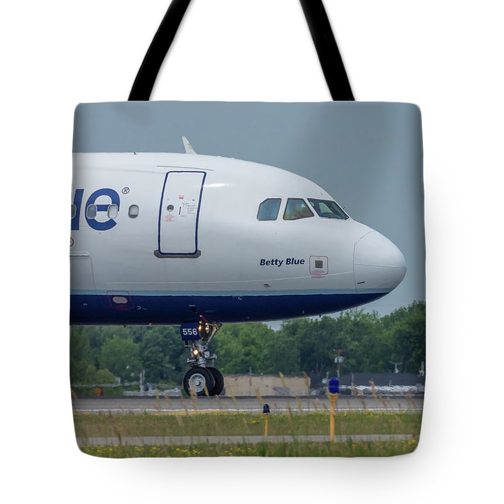 A320 Tote Bag featuring the photograph Betty Blue by Guy Whiteley