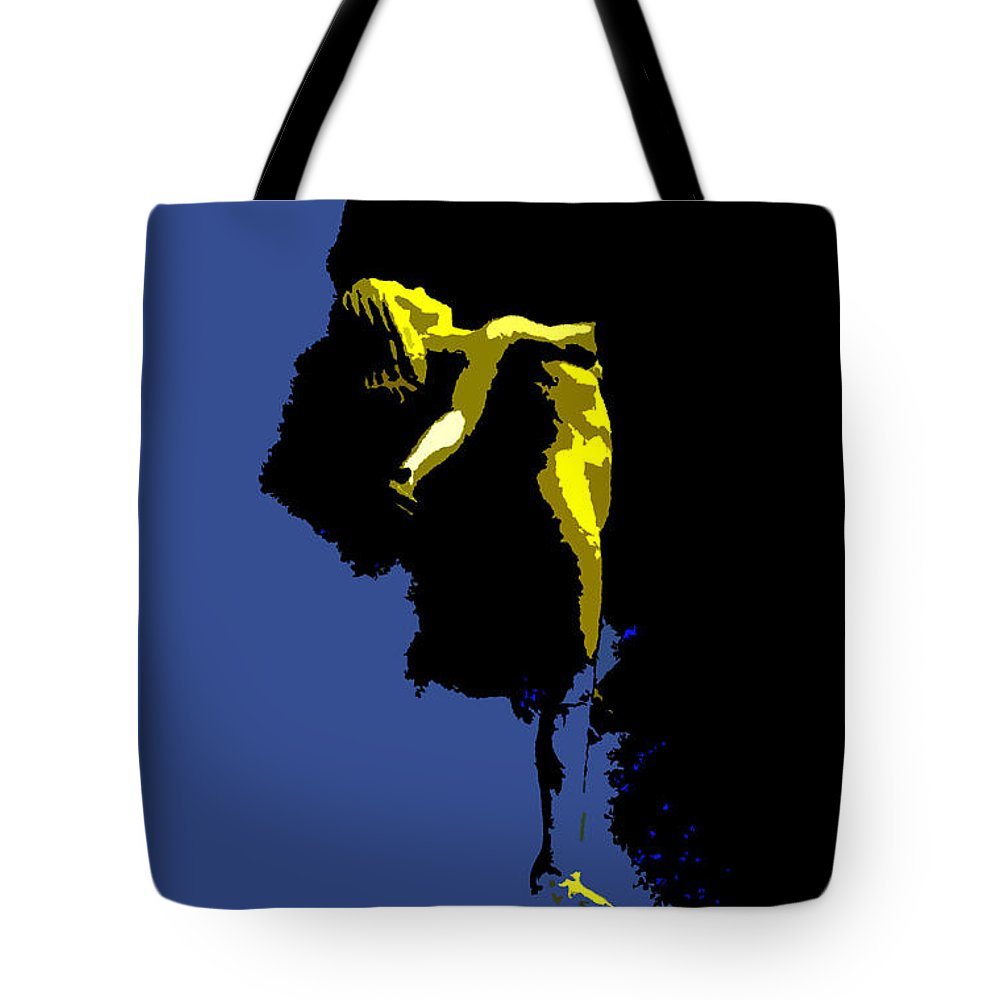 Heaven Tote Bag featuring the painting Between Heaven And Earth by David Lee Thompson