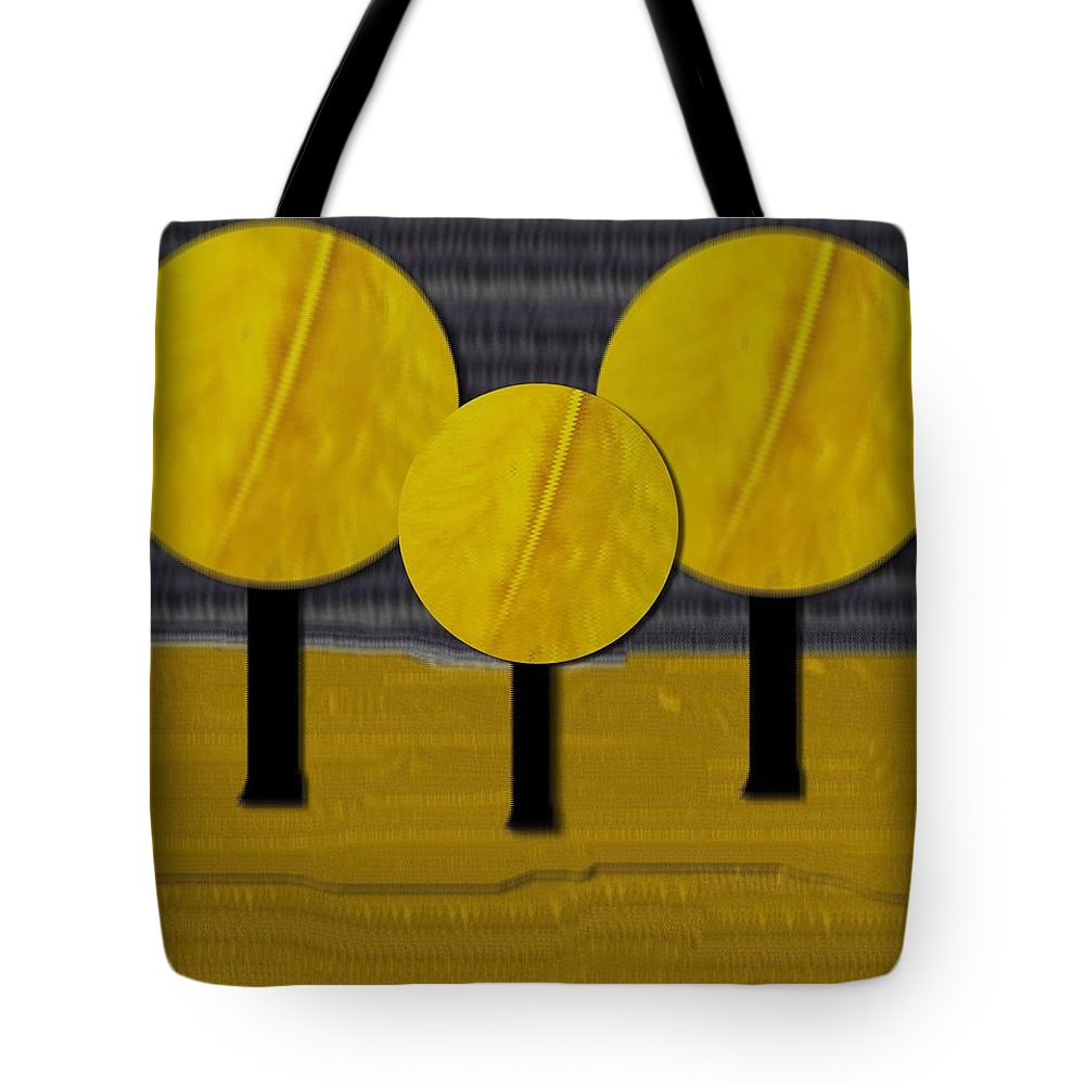 Landscape Tote Bag featuring the mixed media Between Skye And Earth by Pepita Selles