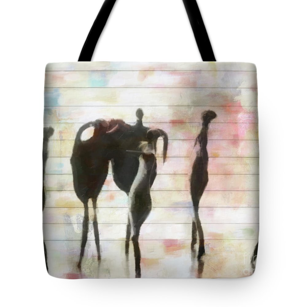 People Tote Bag featuring the photograph Between The Lines by Hal Halli