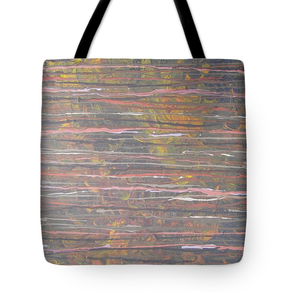 Lines Tote Bag featuring the painting Between The Lines by Jacqueline Athmann