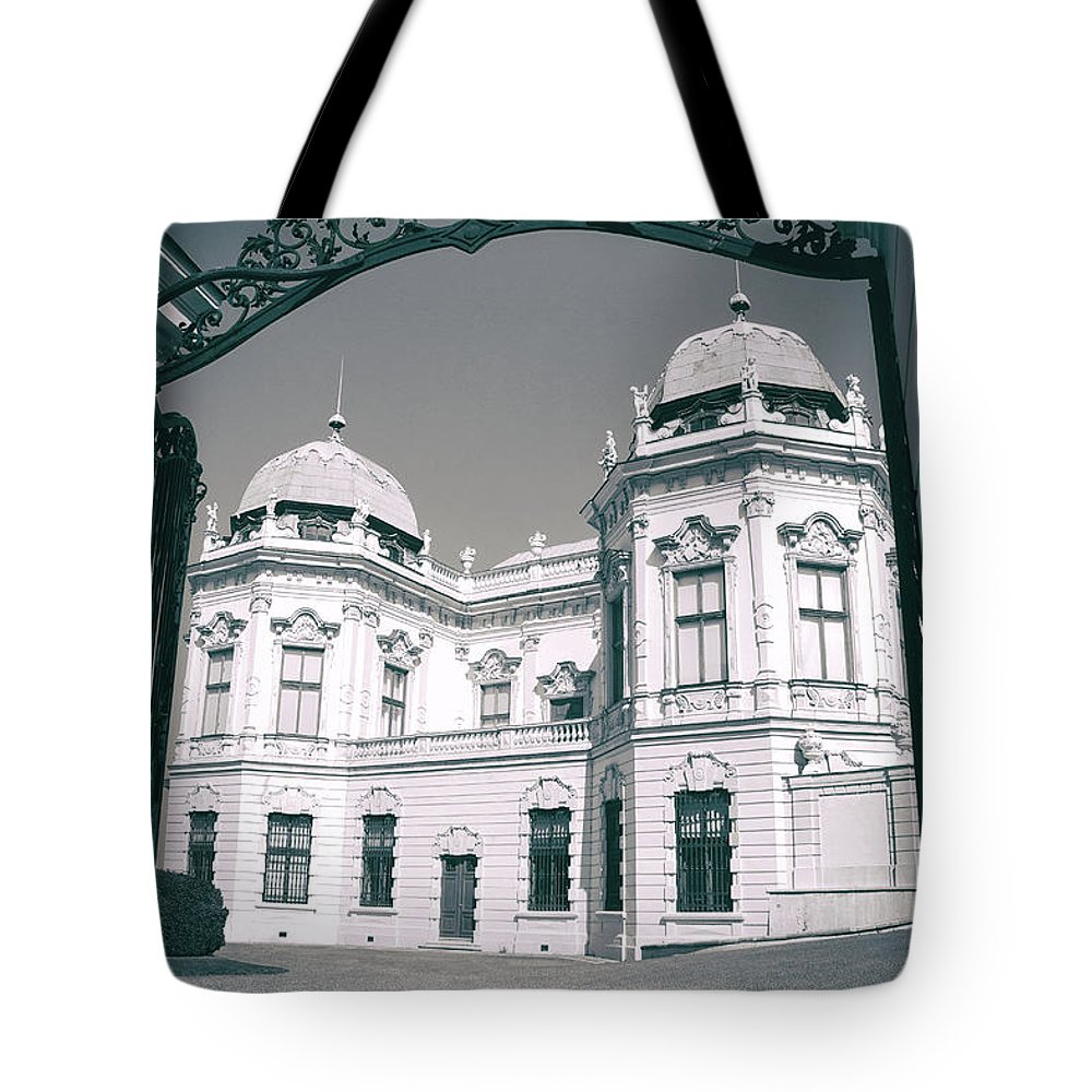 The Belvedere Tote Bag featuring the photograph Between Two Worlds by Iryna Goodall