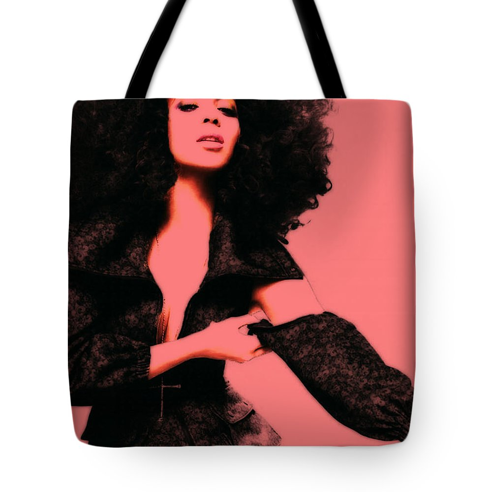 Beyonce Tote Bag featuring the mixed media Beyonce 4g by Brian Reaves