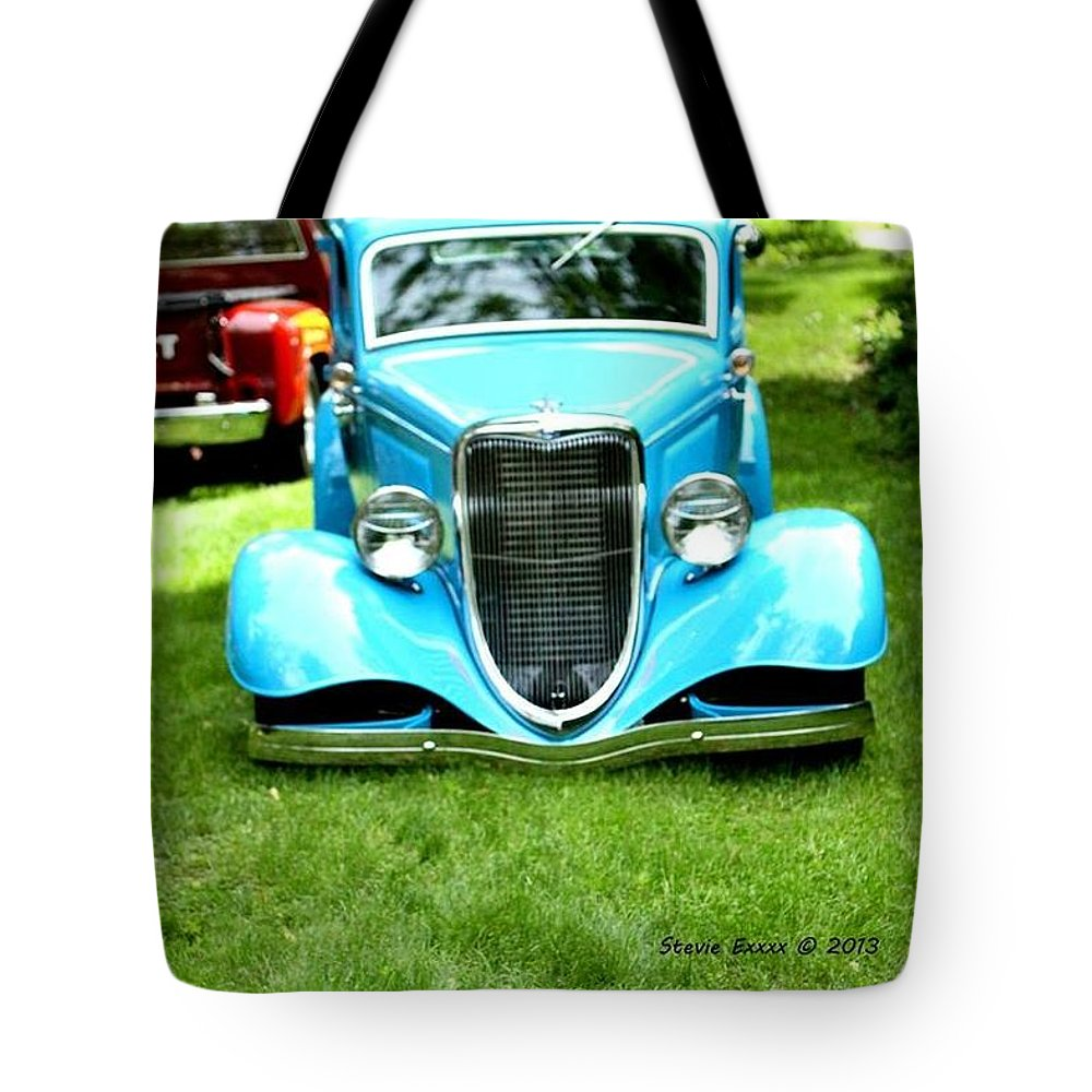 Classic Vintage Auto Automobile Car Life Photograph Collect Collection Tote Bag featuring the photograph Beyond Classic. by Stevie Ellis