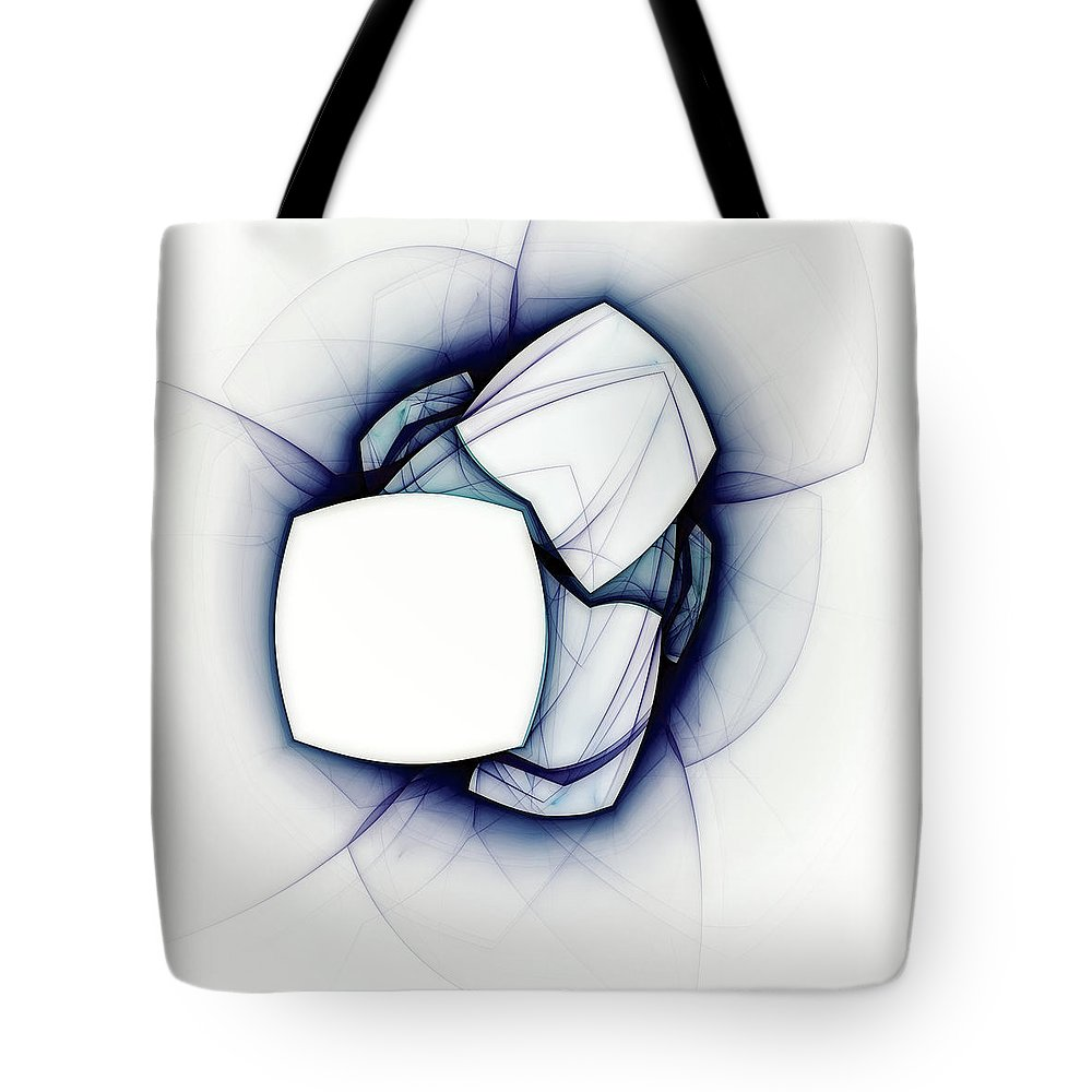 Abstract Tote Bag featuring the digital art Beyond Logic by Scott Norris