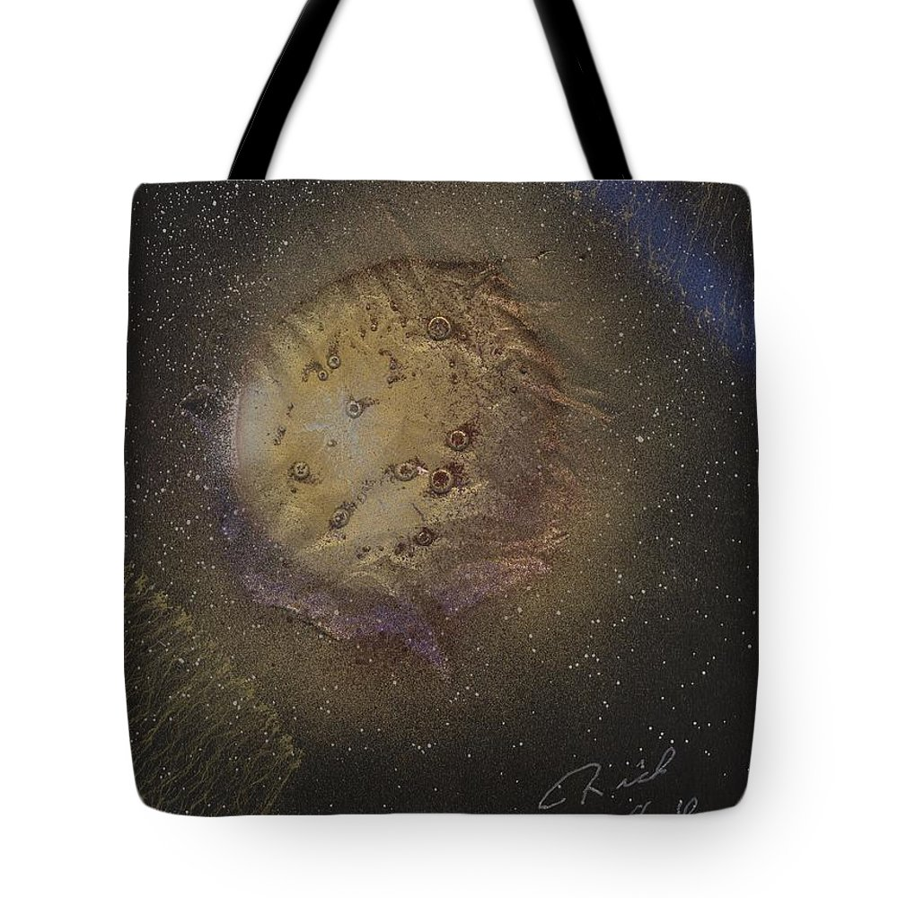 Glass Tote Bag featuring the painting Beyond by Rick Silas