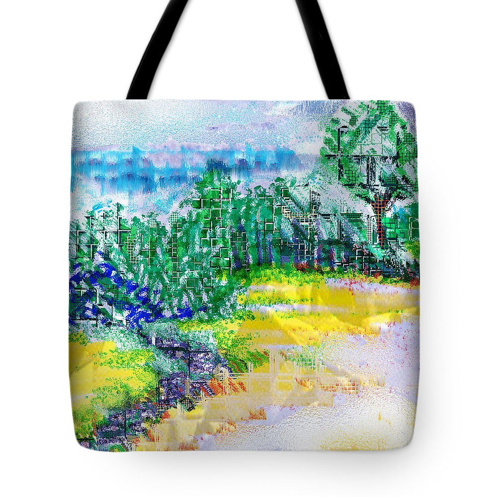 Beyond The Clouds Tote Bag featuring the drawing Beyond The Clouds by Seth Weaver