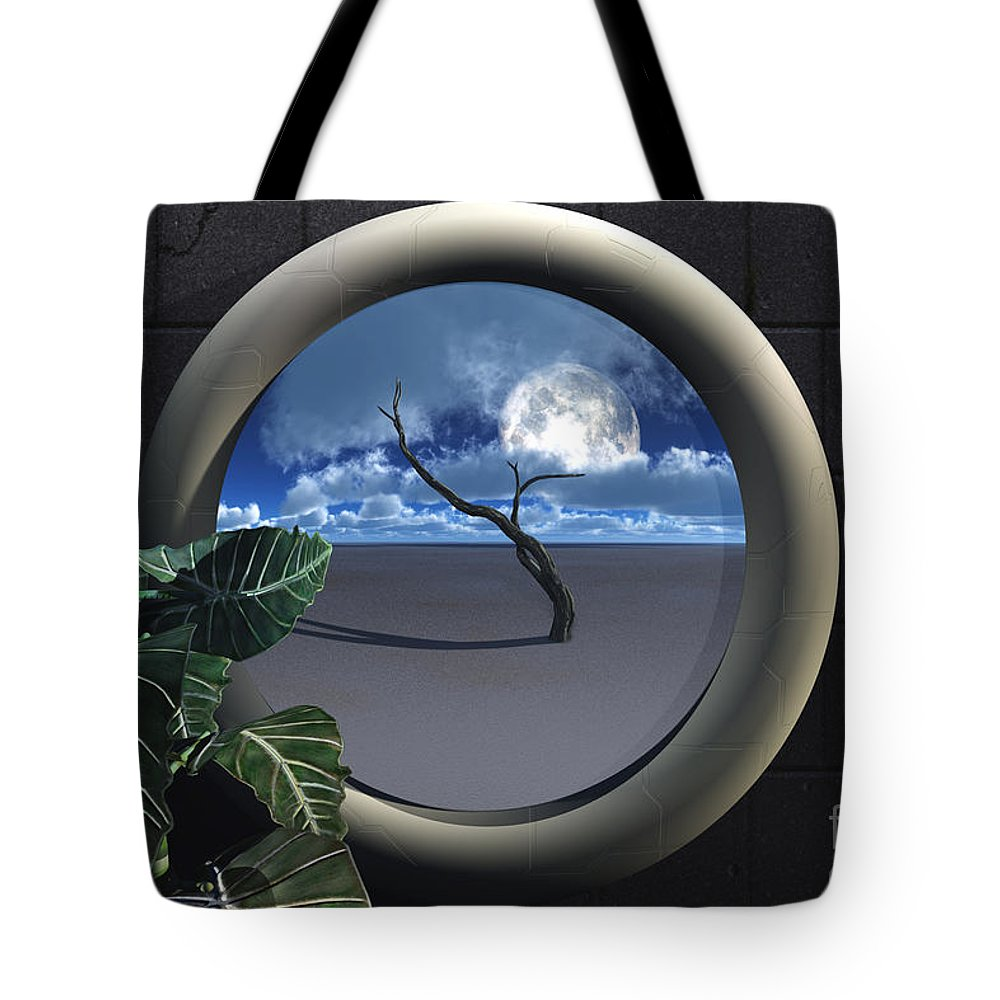 Walls Tote Bag featuring the digital art Beyond Walls by Richard Rizzo