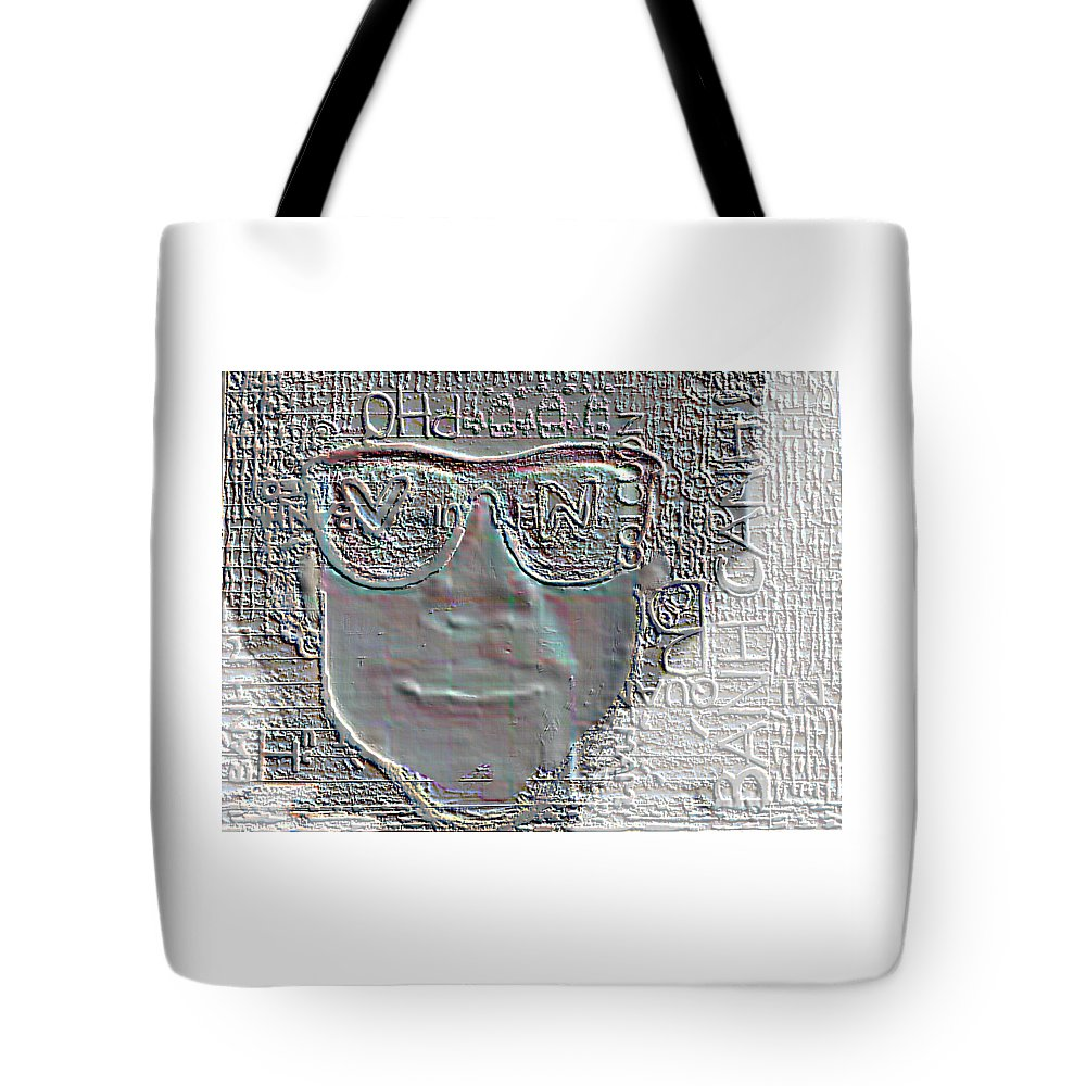 Portrait Tote Bag featuring the painting BFF by Vi Nguyen