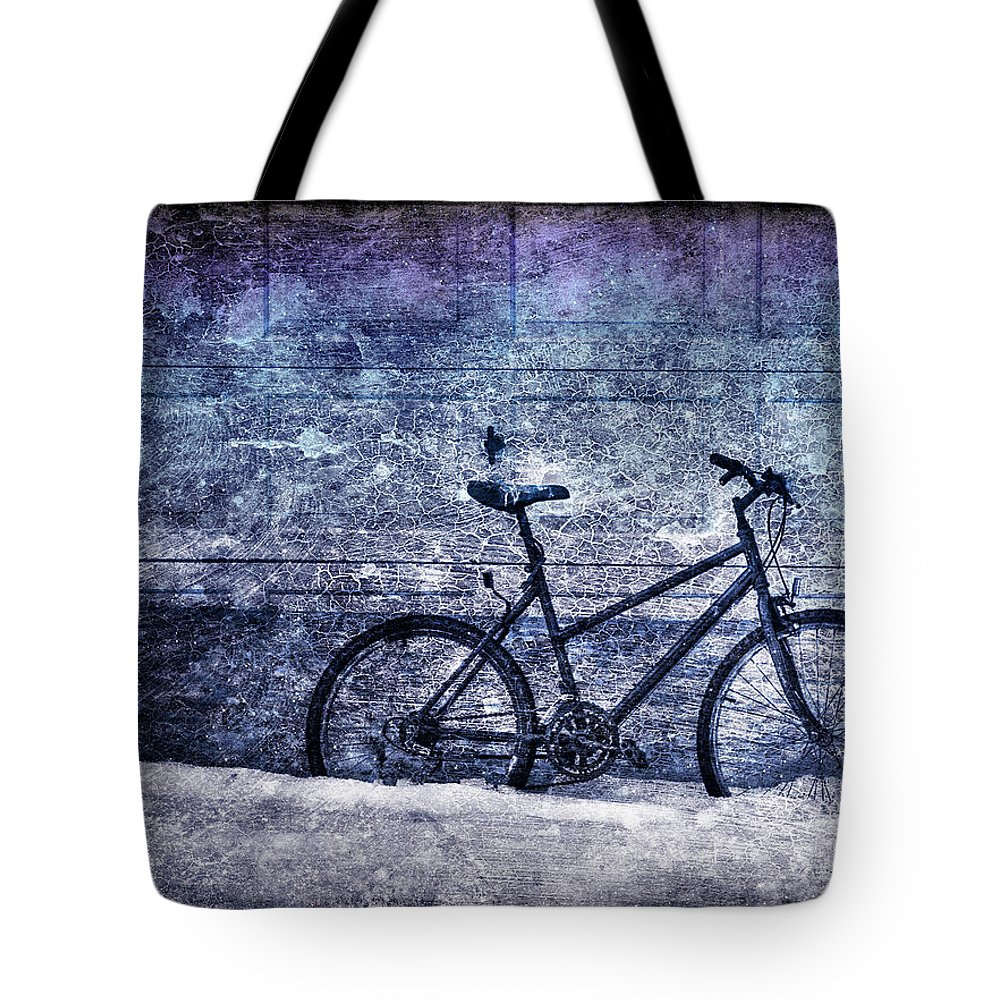 Bicycle Tote Bag featuring the photograph Bicycle by Evelina Kremsdorf