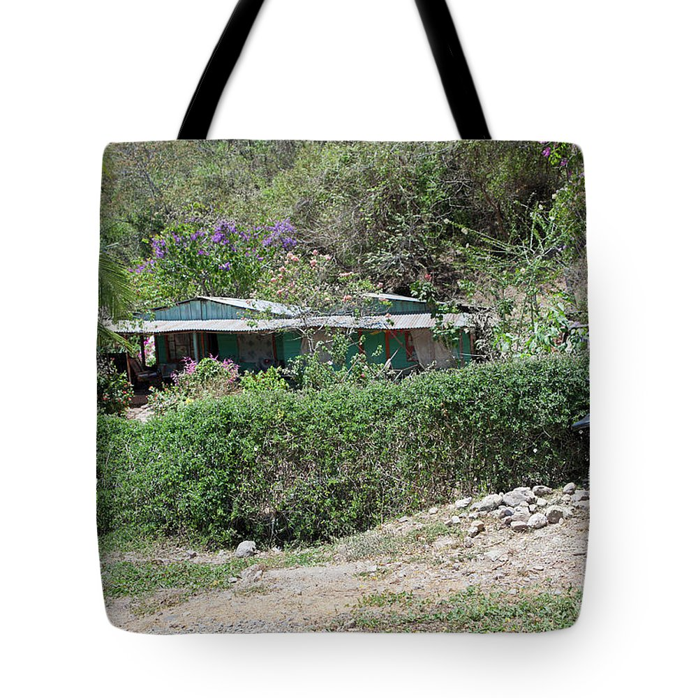 Bicycle Tote Bag featuring the photograph Bicycle In The Yard by Madeline Ellis