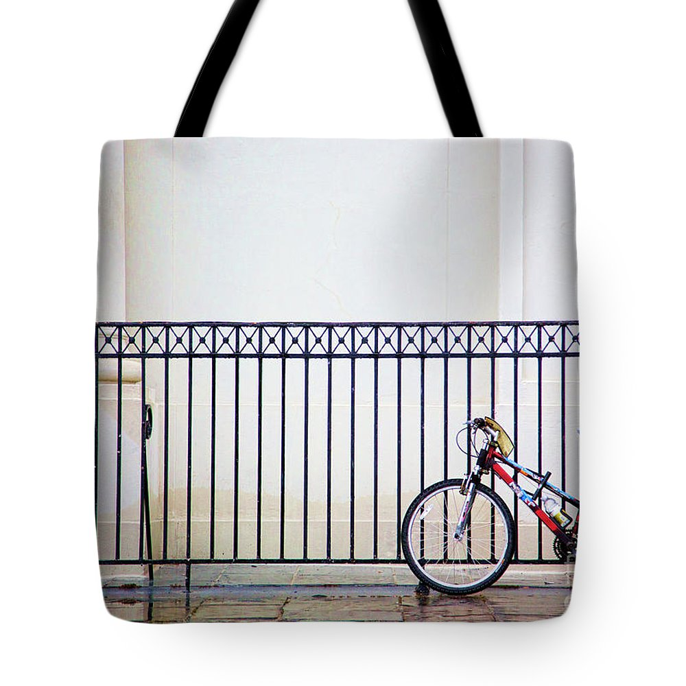 New Orleans Tote Bag featuring the photograph Bicycle New Orleans by Chuck Kuhn