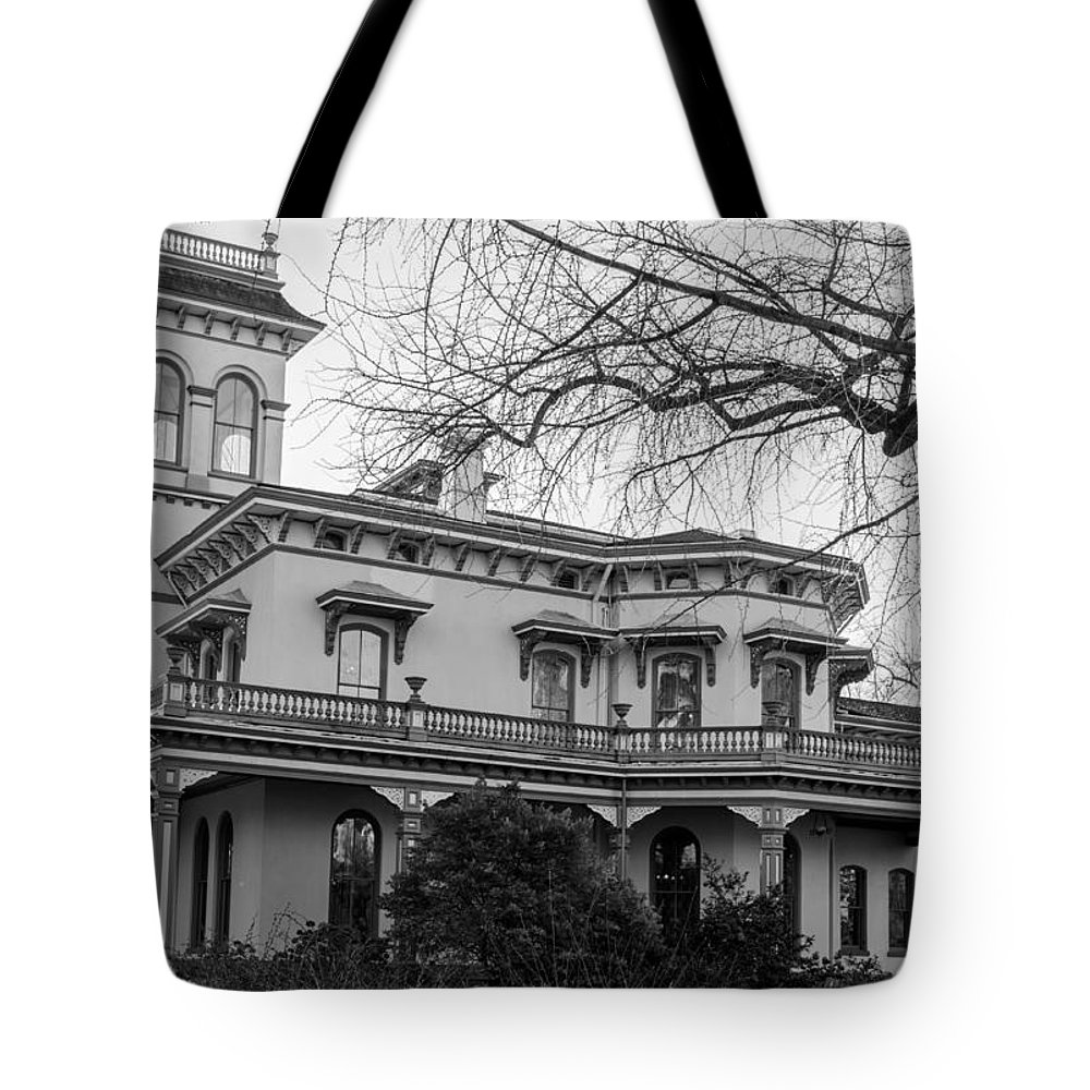 Bidwell Mansion Tote Bag featuring the photograph Bidwell Mansion by Tikvah's Hope