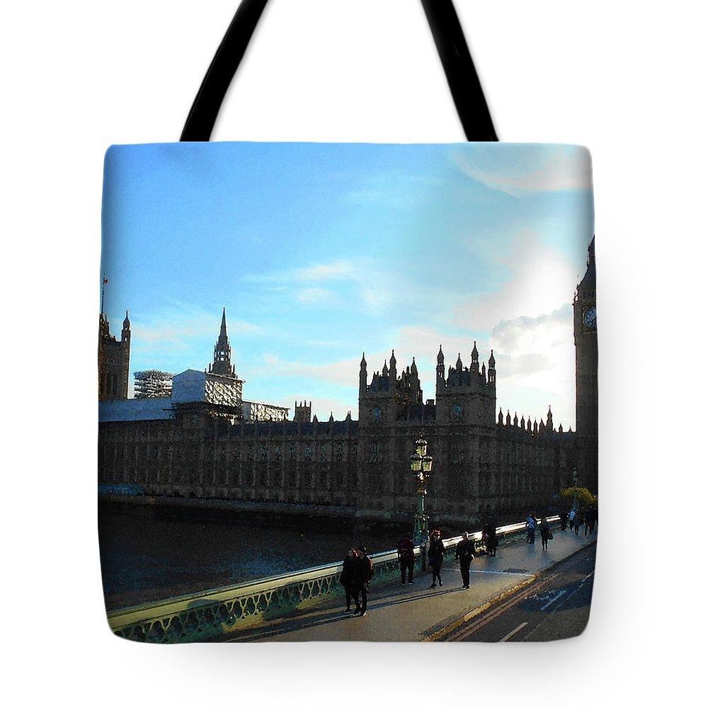 London Tote Bag featuring the photograph Big Ben And Parliament London City by Irina Sztukowski