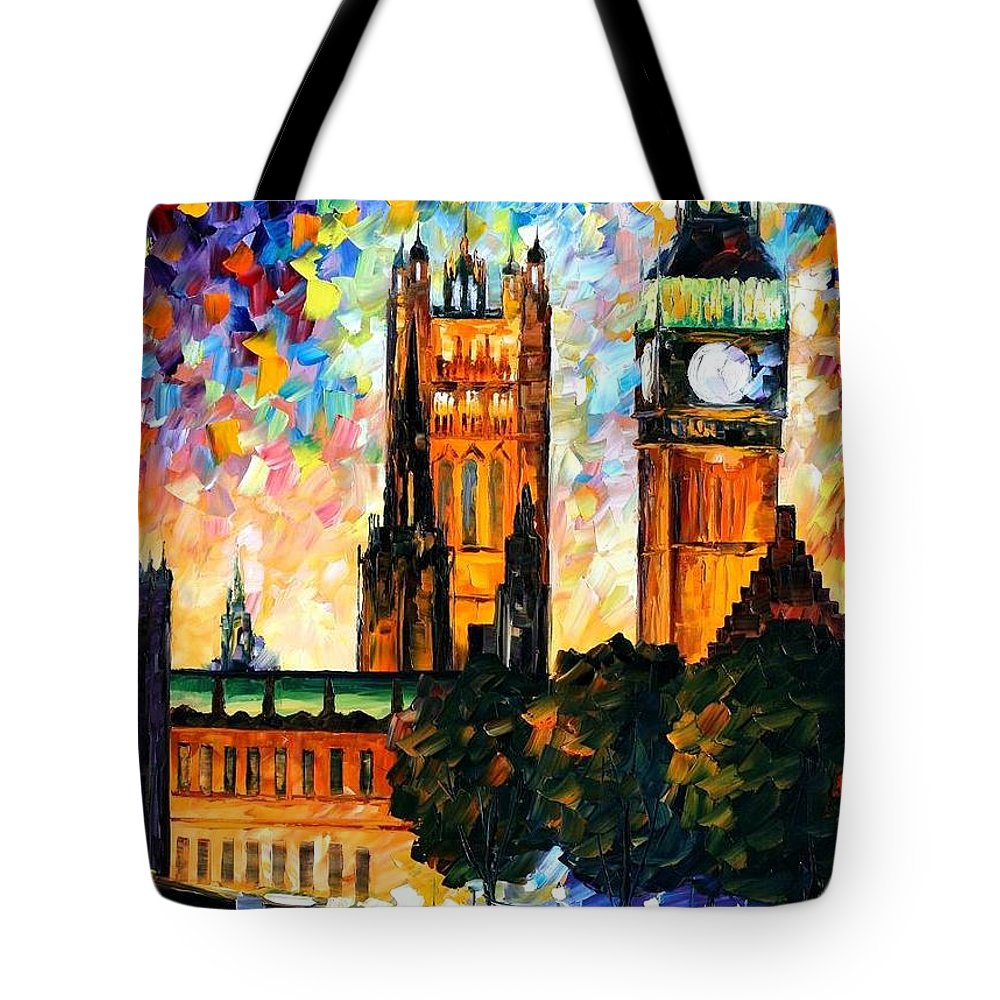 Afremov Tote Bag featuring the painting Big Ben by Leonid Afremov