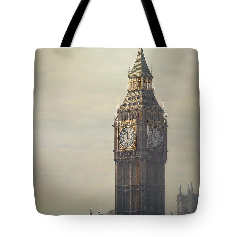 Big Ben Tote Bag featuring the photograph Big Ben by Mark Owen