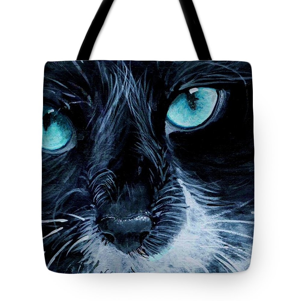 Charity Tote Bag featuring the painting Big Blue by Mary-Lee Sanders