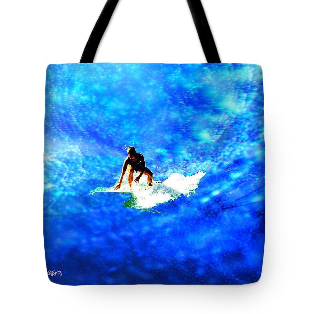 Big Tote Bag featuring the digital art Big Blue by Seth Weaver
