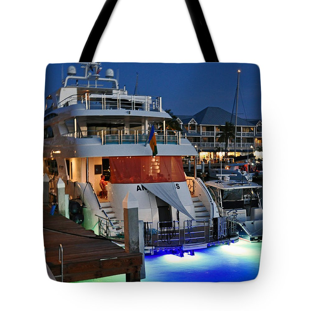 Key West Florida Tote Bag featuring the photograph Big Buck On The Sea by Davids Digits