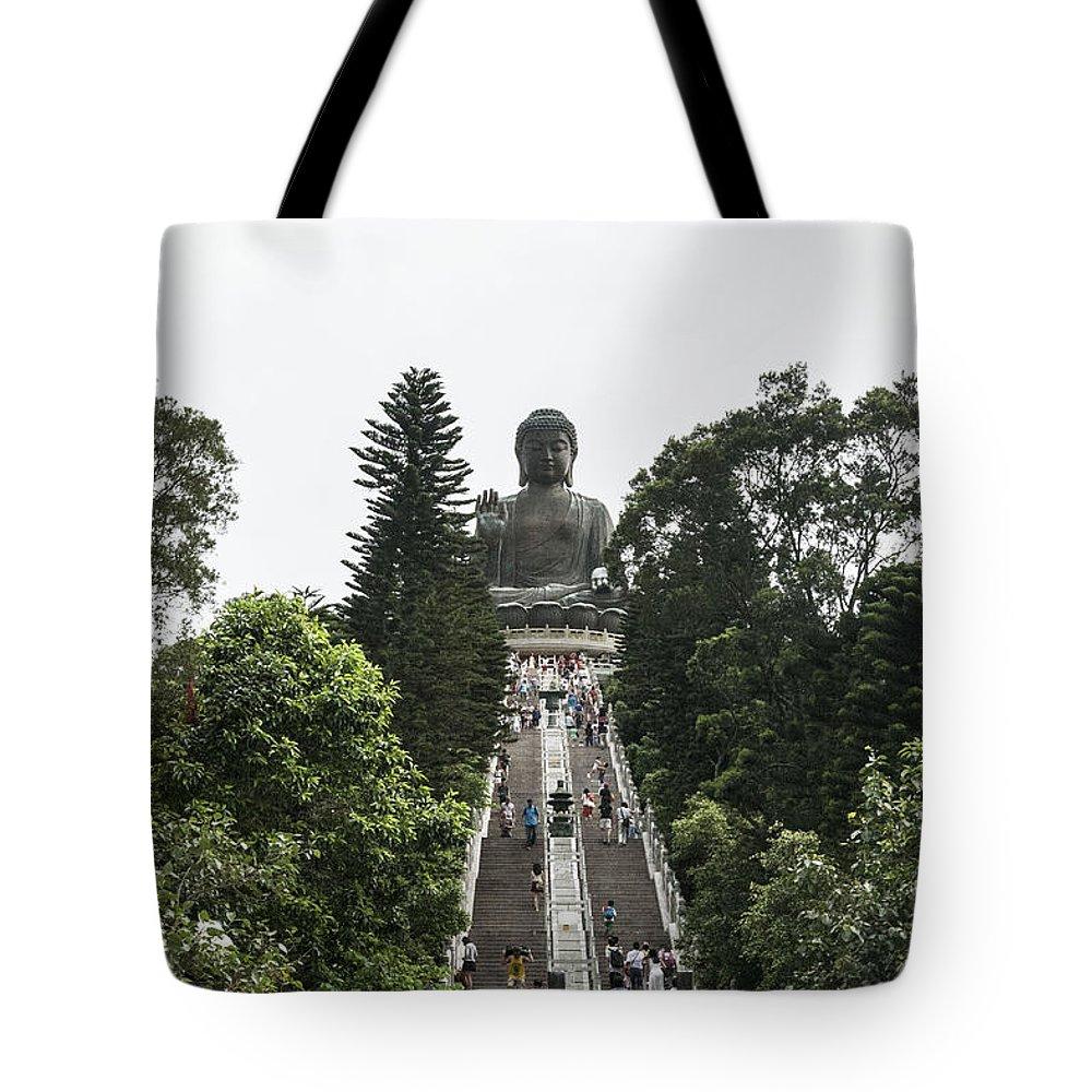 Hongkong Tote Bag featuring the photograph Big Budah by Israel Hernandez